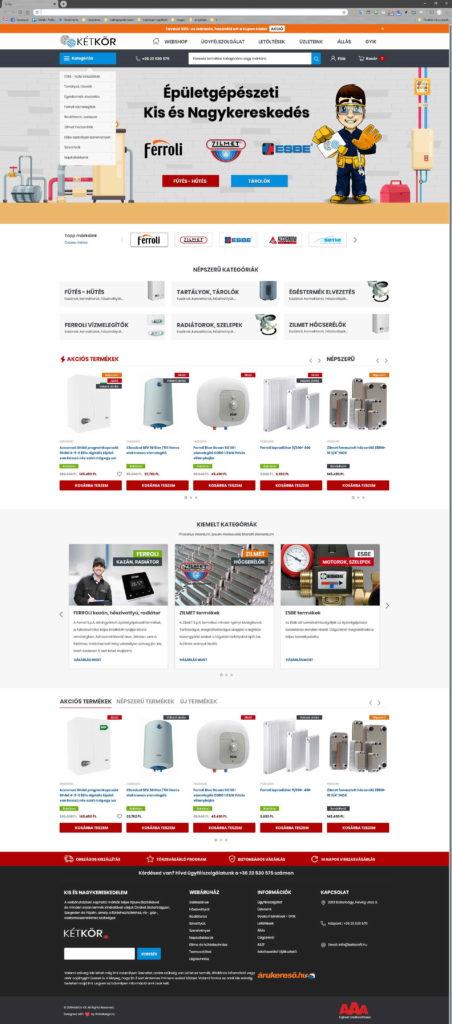 Webáruház grafikai tervezés - Két Kör Kft. - WebDizájn .hu